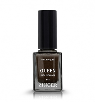 Лак для ногтей Zinger Queen 645 Dark Chocolate